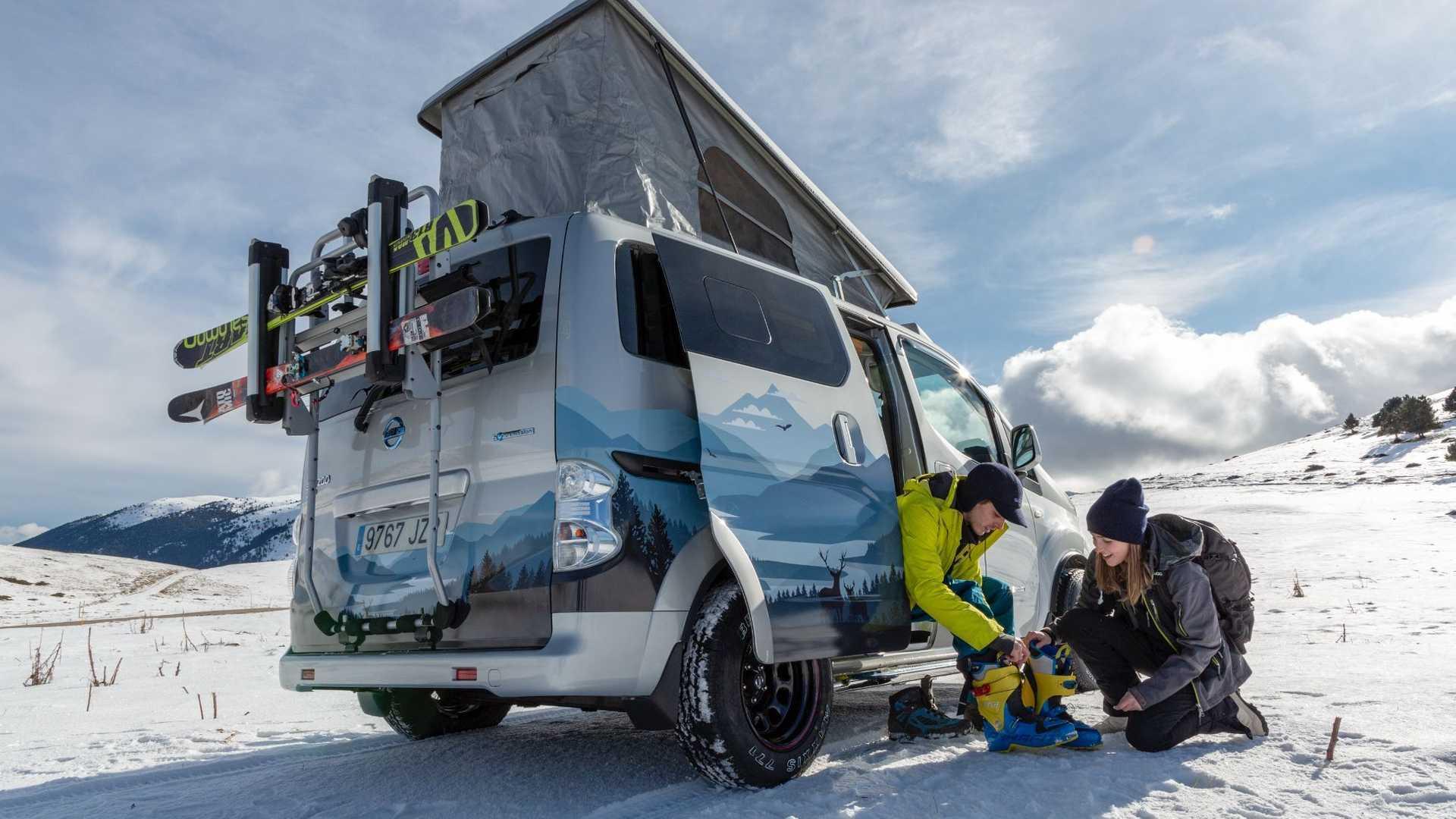 Χειμερινές εξορμήσεις με το Nissan eNV200 Winter Camper