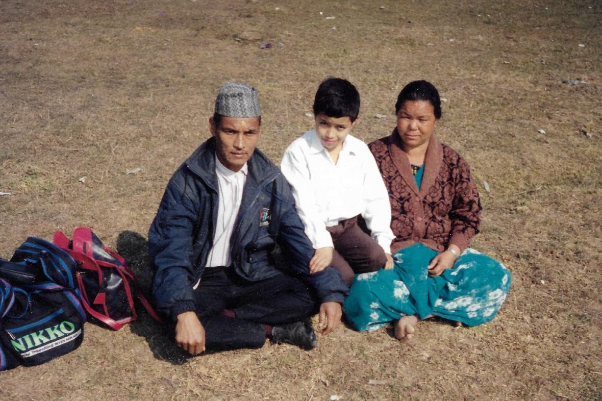 Nirmal Purja μικρός στην Κατμαντού